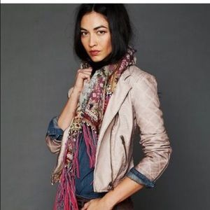 Free People Vegan Quilted Leather Jacket